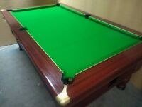 7x4 Slate Bed Pub Pool Table. New Recover. Brand New Accessories & Free Local Delivery Included