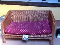 DOG /PET BED - WICKER with MATTRESS. NEW UNUSED