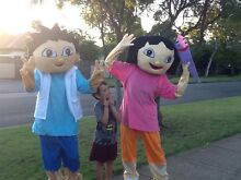 "MASCOT COSTUMES ""DORA THE EXPLORER"" AND ""DIEGO"" COSTUMES $50 EACH. Banyo Brisbane North East Preview"