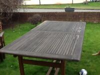 6ft wooden table.