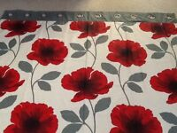 Pair of Poppy Pattern Curtains (bought from Next)