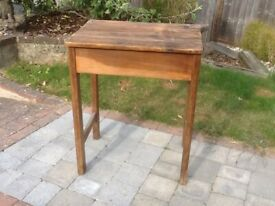 Upcycled old oak school desk / study desk