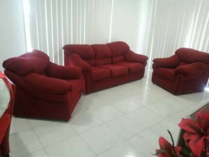 3 Piece Lounge Suite - 2 Single Chairs 1 - 3 seater