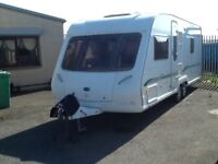 2005 BESSACARR cameo 625gl fixed bed 4 berth end changing room twin axel