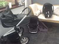 quinny buzz black/charcoal travel system
