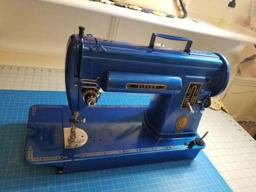 Singer 301 Sewing Machine Napa Bahama Blue [SERVICED AND CLEANED]