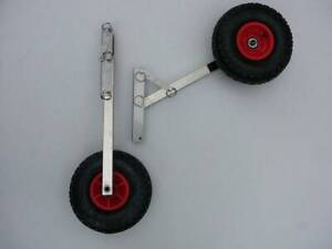 S/STEEL BOAT LAUNCHING WHEELS FOR DINGHY, INFLATABLE, TINNY