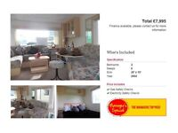 CHEAP STATIC HOLIDAY HOME, 2 BEDROOMS, NEAR WHITLEY BAY, NOT HAVEN, FINANCE AVAILABLE, CALL TRACEY