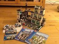 LEGO CITY POLICE HEADQUARTERS, CAININE VAN, X2 MOTORBIKES, X1 CAR, NO 7744