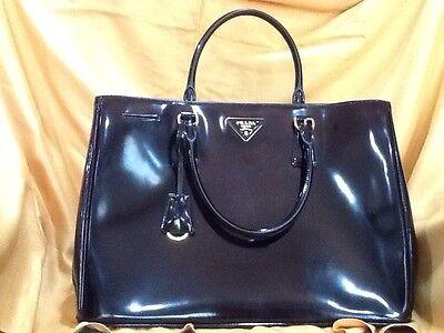 Authentic New Prada Patent Leather Handbag