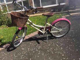 "Dawes Lil Duchess Vintage 20"" Bike Retro Cream & Pink Shimano 6 Speed"