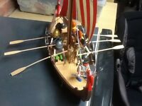 Playmobil Viking ship and lots of figures