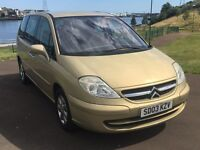 Citroen C8 SX HDI 2.0, 7 Seater 2003 model, full m.o.t plus 6 months extendable warranty