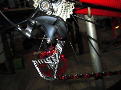 Fouriers Carbon Cage Ceramics Derailleur Pulley For Da 9000 Di2 9070 Ut 6870 Red
