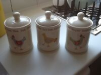 Tea, coffee, suger canisters