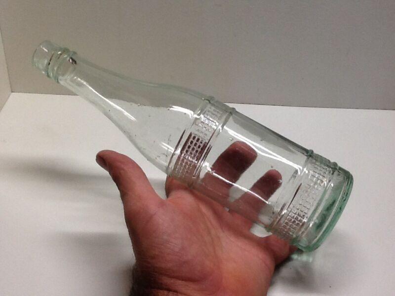 Fancy Vintage Aqua Early Sauce Or Condiment Bottle.
