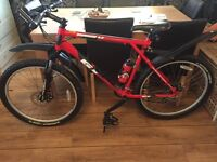 Mens red Avalanche gt 3.0 with customized Michelin tyres, Handle bars top of the range used twice