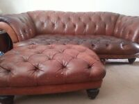 chesterfield and foot stool