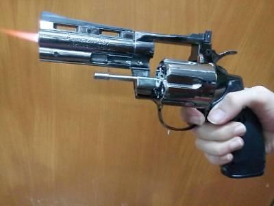 23cm Revolver Lighter python cosplay police fbi 357 4