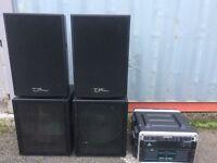 Ohm Passive PA Speakers (No amps)