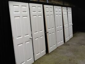 Six, used Internal wooden doors. Good condition
