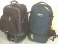 From £30 upto £45 each-several large lightly used camping & travel rucksacks 50litres to 90 litres