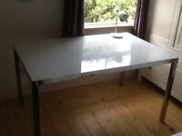 Beautiful Frosted Glass Desk