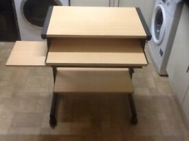 Large desk 150cm x 75cm ikea klimpen top surface with two legs and