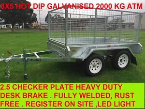8x5 FULLY HOT DIP GALVANISED TRAILERS Dandenong Greater Dandenong Preview