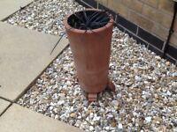 Terracotta slim plant pot