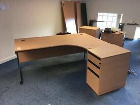 Office desk clearance of desks and pedestals