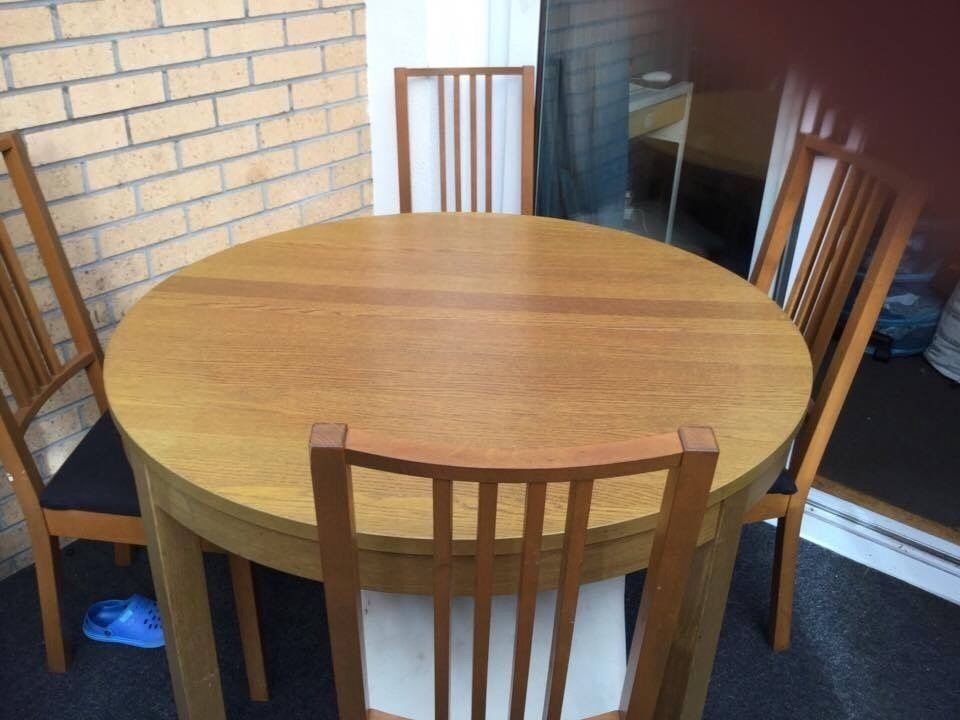 IKEA dining table and 4 chairs FOR QUICK SALE | in ...