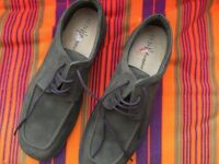 Brand new pair of man's green suede shoes by Marks and Spencer. Size 12