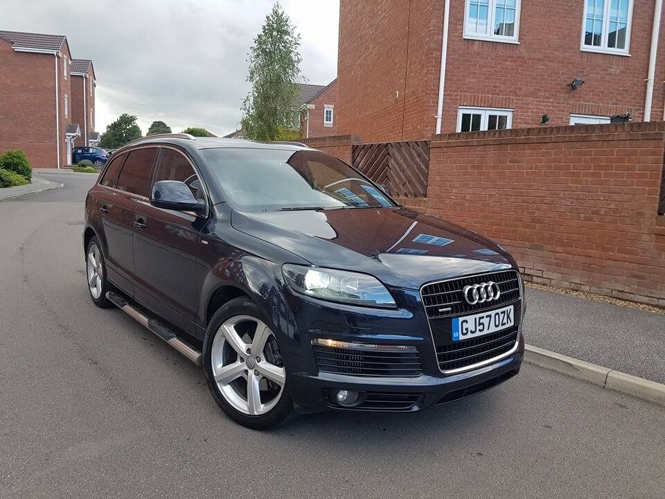 2008 audi q7 3 0 tdi quattro s line midnight blue 7 seater 4x4 f s h 12 months mot top spec in. Black Bedroom Furniture Sets. Home Design Ideas