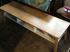 Beech/white bench seat for sale