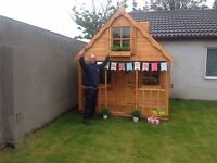 Deluxe playhouse with upstairs