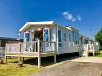 Top of the range caravan for sale not touring, sited in Essex, 2 bedroom and finance available