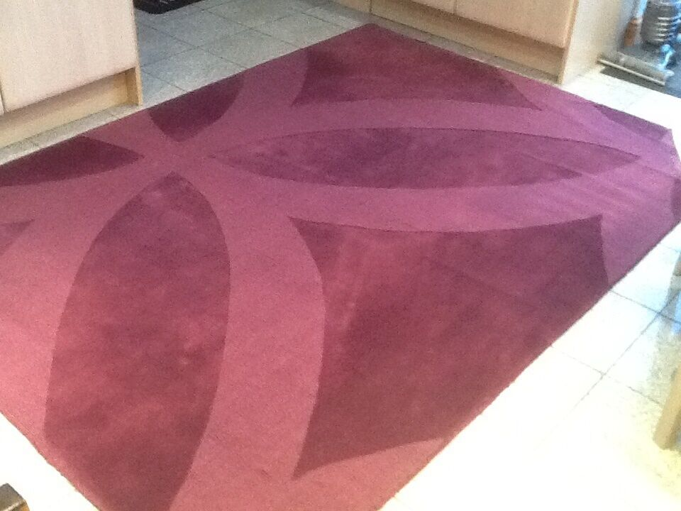 100 Pure New Wool Pile Rug Ikea Andrea 170cm X240cm Excellent Condition