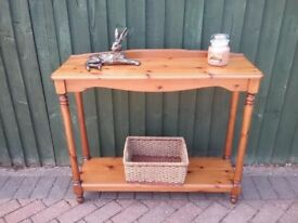 Pine hall or console table