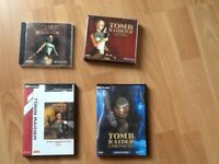 Four tomb raider pc cd rom games