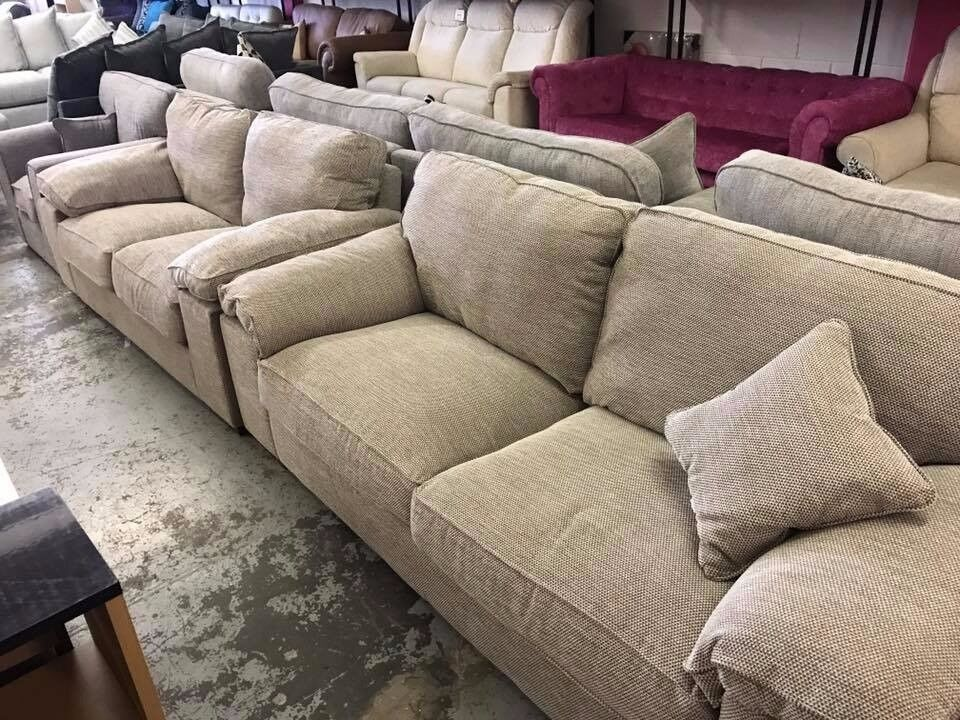 Aylesbury 3-Seater + 2-Seater Fabric Sofa Set