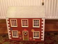 DOUBLE FRONTED DOLLS HOUSE, SOLID AND DURABLE, REFURBISHED AND IN SUPER CONDITION £60