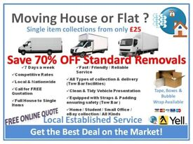 Professional Man & Van House/Office Removals Cheap Hire- 24/7 Moves-Local To Nationwide (Same day)