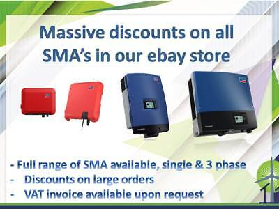 SMA Sunny Boy 3.6kW solar Inverter, discounts on all SMA's in our ebay shop