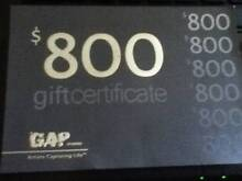 $800 GAP Studios Gift Certificate. Use By December 20th 2015 North Sydney North Sydney Area Preview