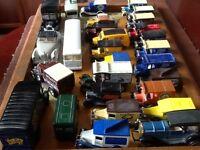 Various Corgi, Matchbox and Lledo toy cars