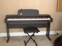 DP-6 Digital Piano with Stool and Headphones - Black