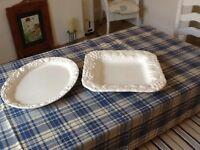 Large White Serving Plates