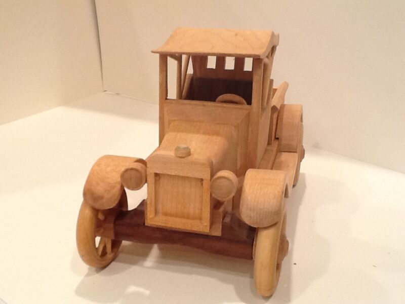 New Unique Handmade Scaled Wooden Wood Collectible Model T Toy Car Truck
