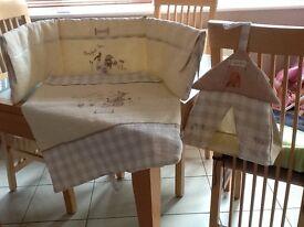 Mamas & Papas Crib Set and hanging nappy bag